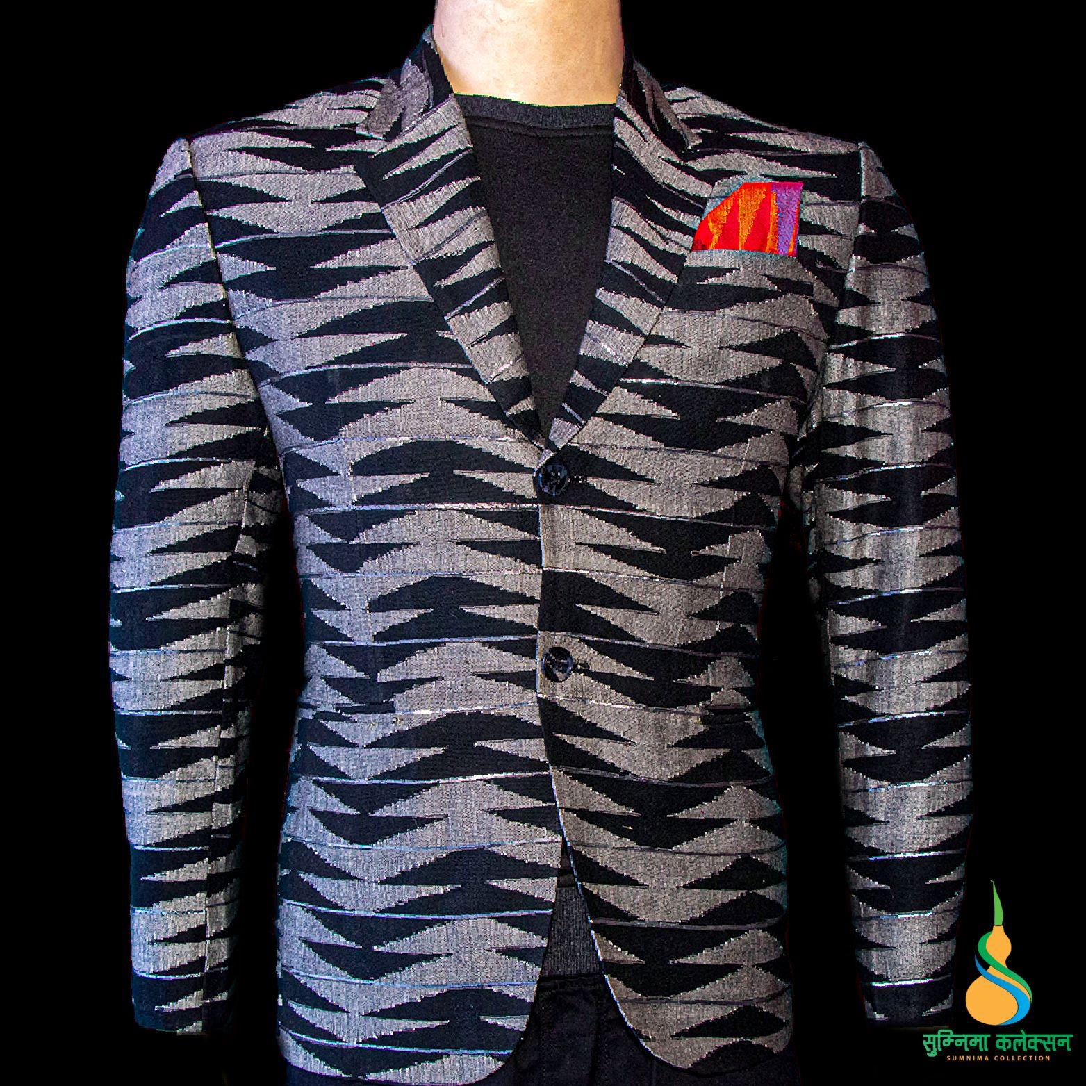 Limbu Dhaka Coat
